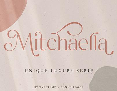 Free Font Mitchaella Luxury Serif