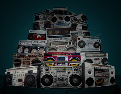 BoomBox concert background screen