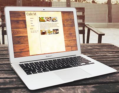 Cafe M Website Design and Coding