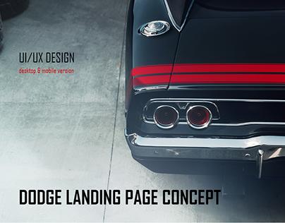 Dodge Landing Page Concept