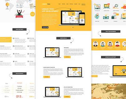UNIQUE-TECH Website UI Freebie