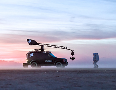 Filming on the Playa