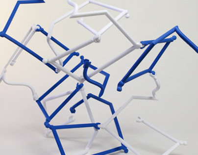 Emergent Structures: Blue and White