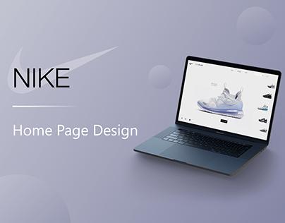 NIKE Website Landing Page Design