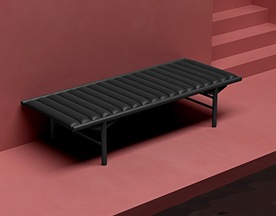 Minimalistic presentation of famous furniture