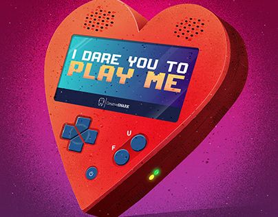 """""""I Dare You to Play Me"""" Gameboy Heart"""