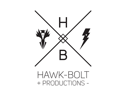Hawk-bolt Productions branding