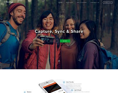 App Landing Page : PSD