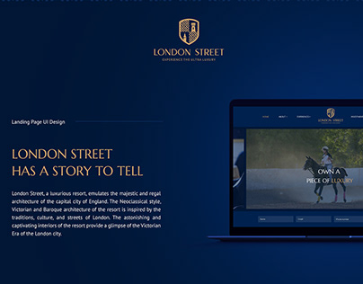 London Street Landing Page UI Design