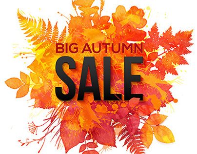 Watercolor seasonal sale banners