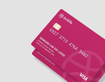 Dribbble Visa Card