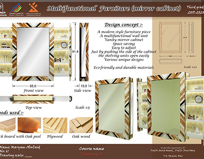 Multifunctional Furniture (mirror cabinet)