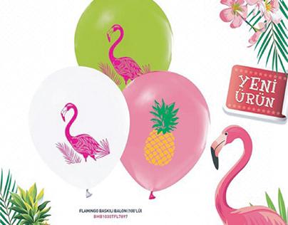 Flamingo Balon Tasarımı İçin Mailling Çalışması