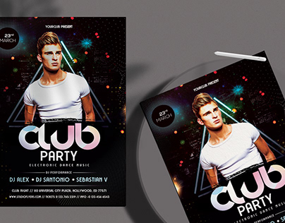 Club Event FREE PSD Flyer Template