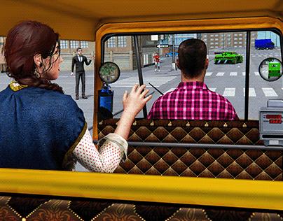 Tuk Tuk Transport Simulator: Driving Games