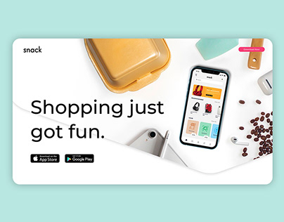 Snack App Landing Page
