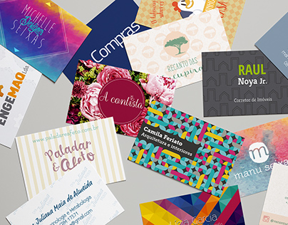 Business Cards from various clients