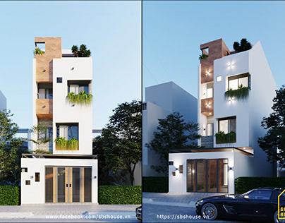 Mẫu nhà phố 4 tầng đẹp - nội thất sang trọng