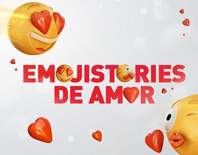 """""""Emoji-stories de amor"""" para Claro Colombia 😍"""