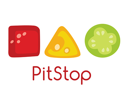 Revamp of Pitstop logo(pizza shop)
