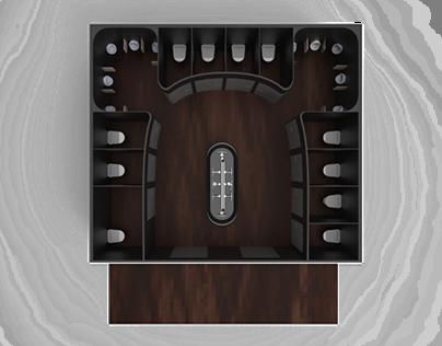 Public Restroom - Interior Design