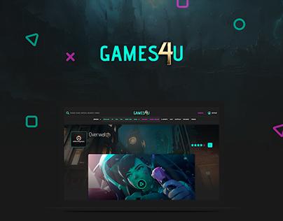 Games4U - Web Responsive & Mobile App