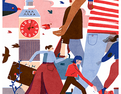 Migration in the UK // Poster Illustration