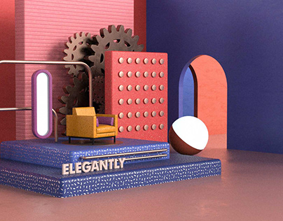 3D Modern visual product design
