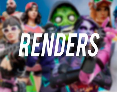 Personal Fortnite 3D Renders