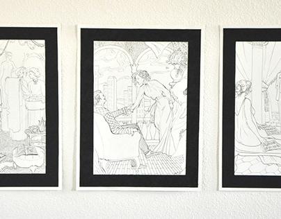 """Book Illustrations to T. Dreiser's novel, """"The Stoic"""""""