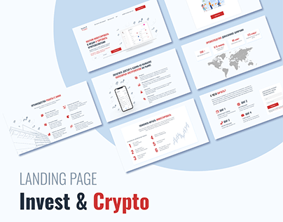Landing Page. Invest & Crypto