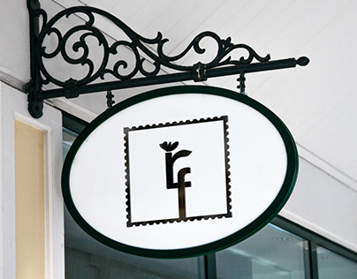 Royal Flowers Shop. Logo and company identity