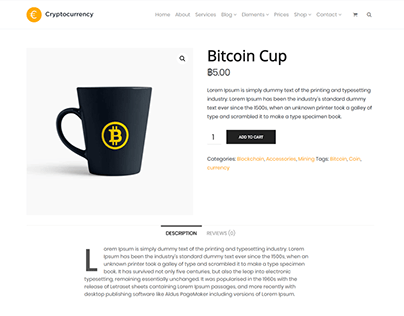 Products Shop Page - Cryptocurrency WordPress Theme