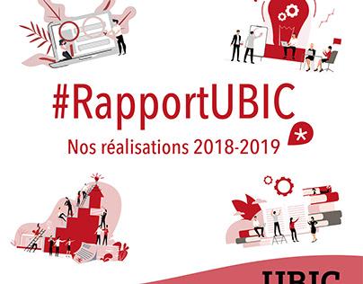 Infographie Rapport d'activité UBIC 2018-2019