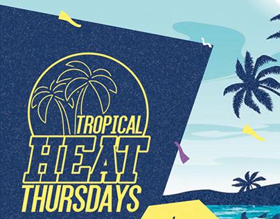 Tropical Heat Thursdays Flyer