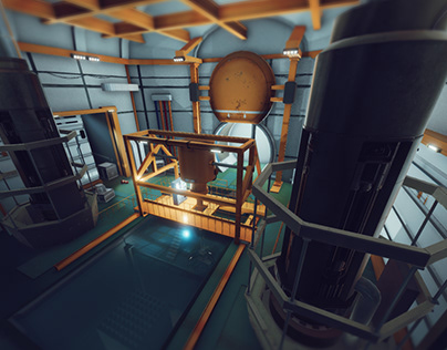 Vr industrial scene functional in Unity 3D
