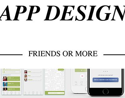 APP DESIGN - FriendsOrMore