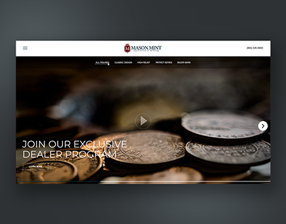 Website design for service private minting facility