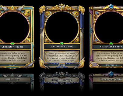 Fantasy card frame designs