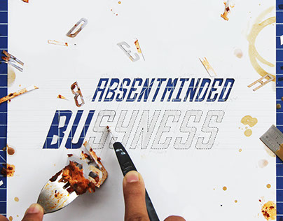 Absentminded Busyness - Experimental Typography