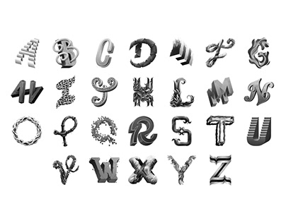 Alphabet Lettering Collection Vol.3