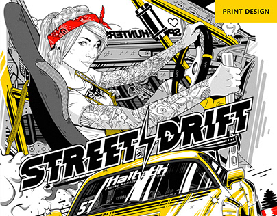 «Street drift» sweatshirt design