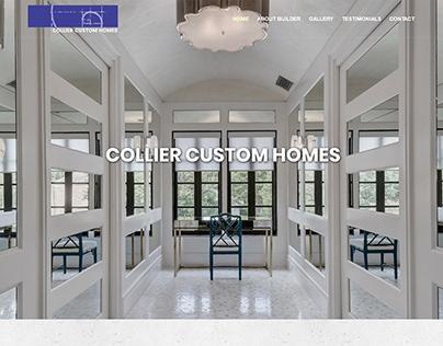 Collier Custom Homes Website re-design