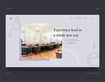 Restaurant André - Website HERO concept - lighter