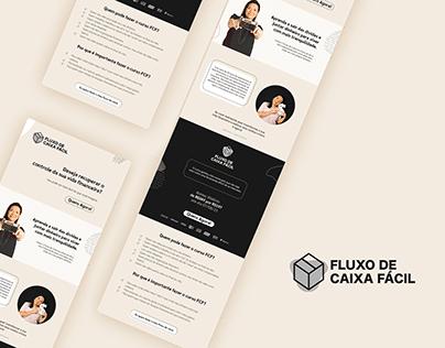 Landing page e social media para Fluxo de Caixa Fácil