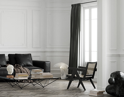 Stylish french interior - CGI