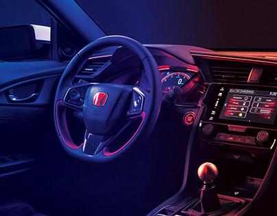 Honda colors and gloss retouching