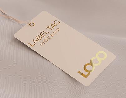 Label Tag or Price Tag Mockup for Branding