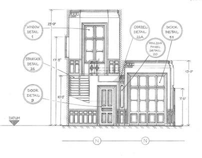 Curious Guardians - Brzezie Palace - Plan & Elevations
