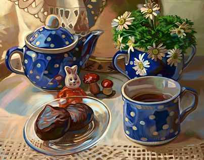 Digital painting still life drawing 2019 [ time lapse ]